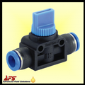 Mini Inline Straight Union Shut off Valve Push in Fittings Metric Nylon Tube Connectors